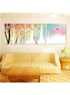 Colorful Trees and Flowers Pattern Ready to Hang Framed Wall Art Prints