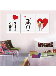 Romantic Lovely Boys and Girls Pattern Ready to Hang Framed Wall Art Prints