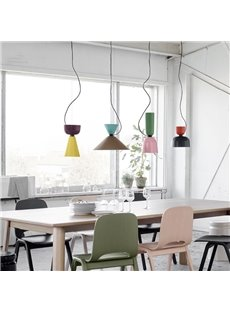 Creative Metal Cup Shape Design E27 Base Plug-in Pendant Light