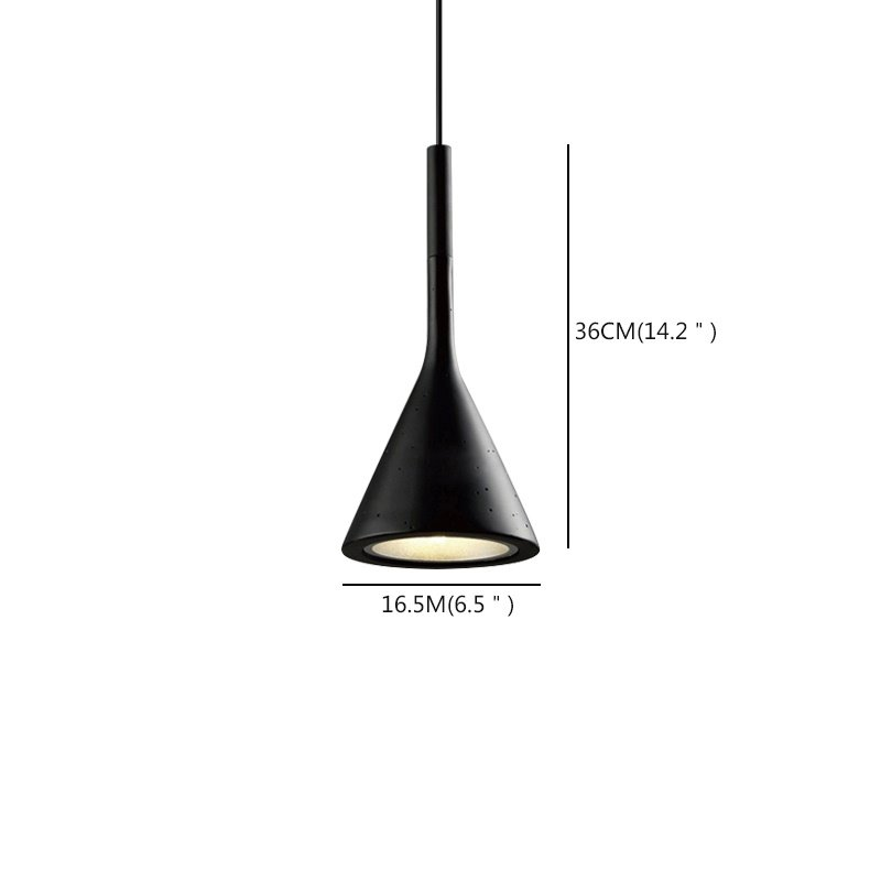 Contemporary Three Colors Funnel Shape Design LED Pendant Lights