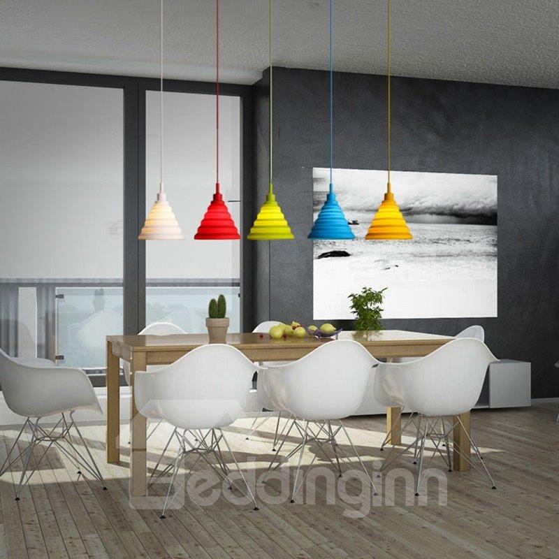 Fancy Funnel Shape Design Colorful Home Decorative Pendant Light