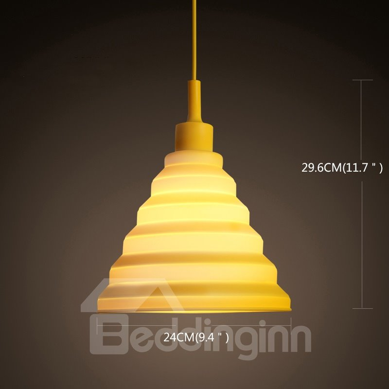 Fancy Funnel Shape Design Colorful Home Decorative Pendant Light