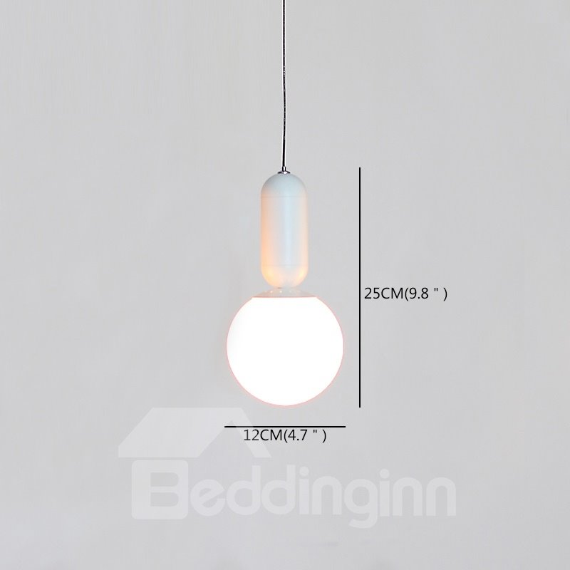 Simple Style Glasses Unique Shape Design Eye Protection Pendant Light