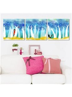 Lovely Cartoon Cute Girl Pattern Design Framed Canvas Wall Art Prints