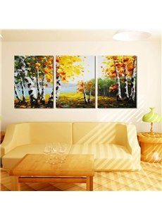 Autumn Riverside Scenery Pattern Design Framed Wall Art Prints