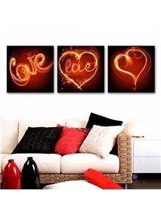 Romantic Heart-shaped Love Design Framed Canvas Wall Art Prints