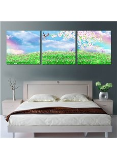 Dreamy Flower Field Pattern Ready to Hang Framed Wall Art Prints