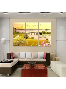 Fresh Natural River Scenery Design 3 Panels Ready to Hang Framed Wall Art Prints