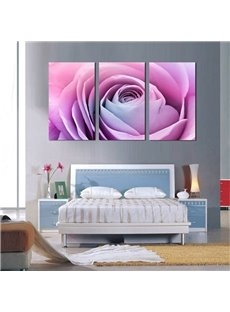 Pink Rose 3-Piece Fabric Hanging Rectangles Framed Wall Prints