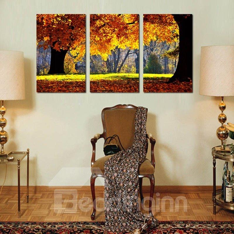 Amazing Autumn Tree Scenery Pattern Framed Wall Art Prints