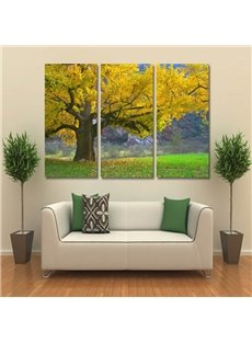 Magnificent Autumn Tree Pattern Design 3 Pieces Framed Wall Art Prints
