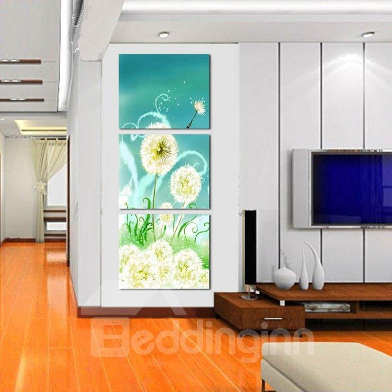 Unique Design Dandelions Pattern Framed 3 Pieces Wall Art Prints