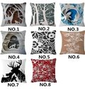 Fancy Animal in the Forest Print Square Throw Pillow