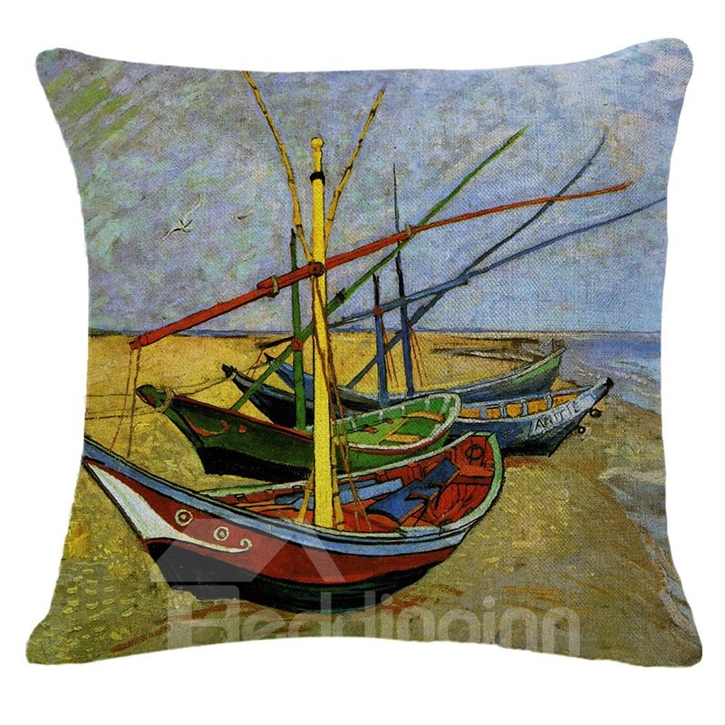 Beautiful Warm Tones Design Square Throw Pillow