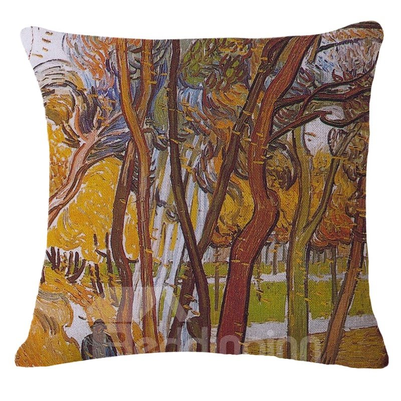 Charming Natural Scenery Print Square Throw Pillow