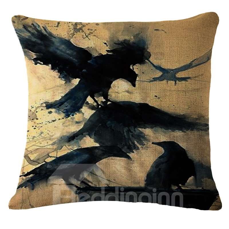 Artistic Animal Design PP Cotton Square Throw Pillow