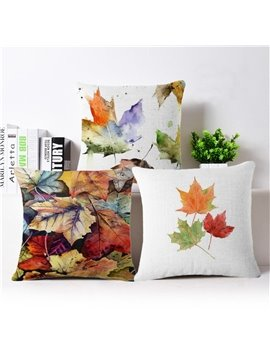 Wonderful Maple Leaves Print Print Square Throw Pillow