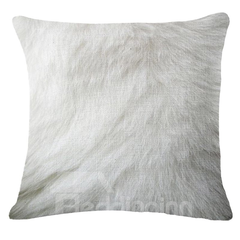 Unique Feather Print PP Cotton Square Throw Pillow