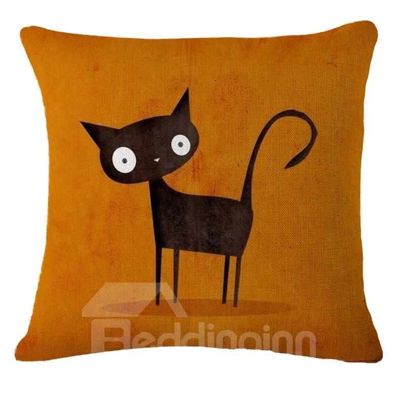 Lovely Kittens Design PP Cotton Square Throw Pillow