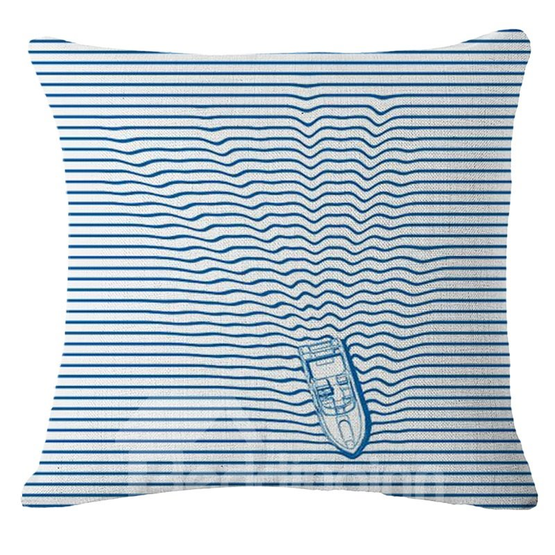 Modern Style Lovely Kitten Print Square Throw Pillow