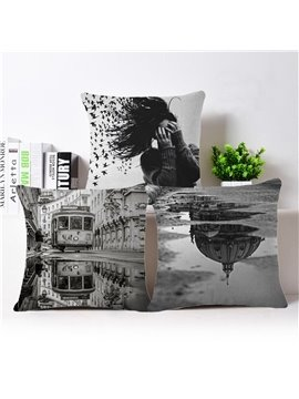 Unique Design Retro Style Square Throw Pillow