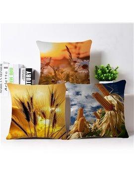 Amazing Harvest Season Print Square Throw Pillow