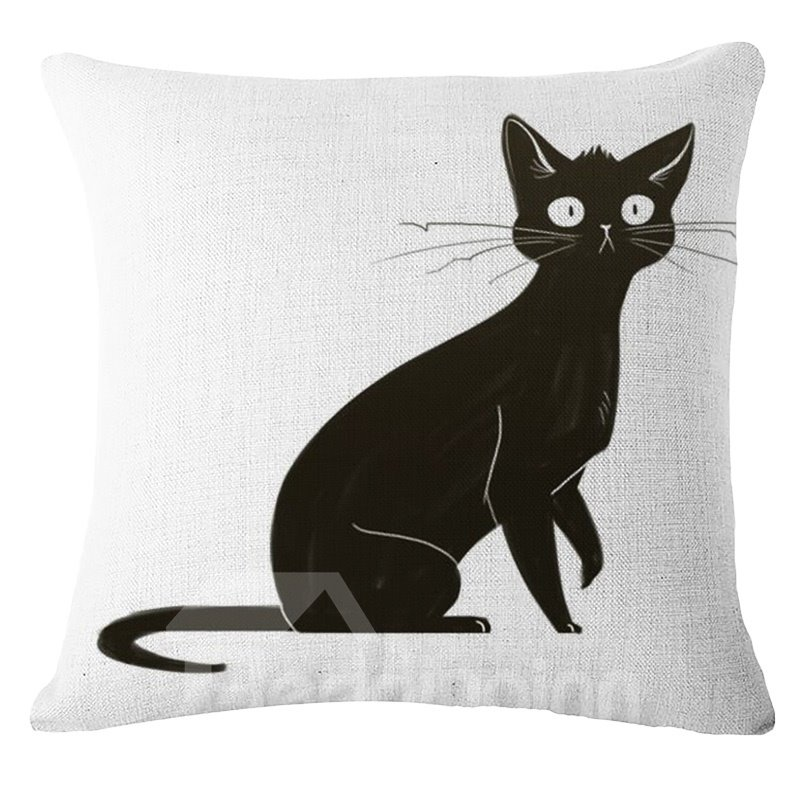 Chic Ink and Wash Painting Animal Design Square Throw Pillow