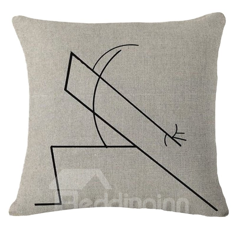 Minimalist Style Chic Design Square Throw Pillow
