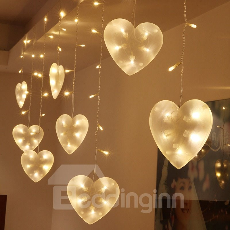 Romantic Pink Heart-shaped 9.8 Feet Width Home Decorative LED String Lights
