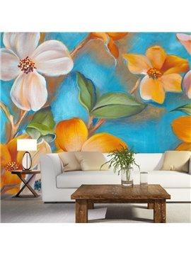 Lifelike Colorful Flowers Pattern Design Waterproof Living Room Decoration 3D Wall Murals