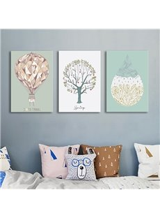Fresh Tree and Balloon Spring Scenery Pattern Framed Wall Art Prints