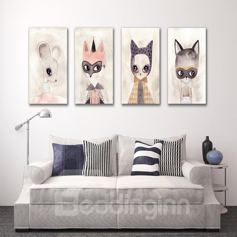 Creative Modern Beautiful Rats Pattern Framed Wall Art Prints