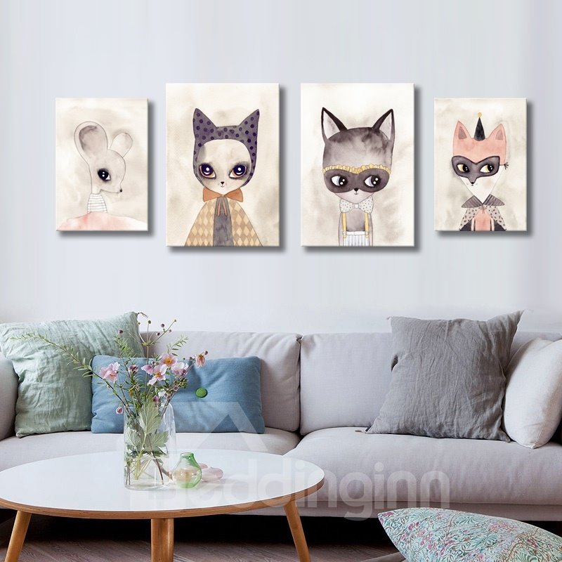Creative Modern Beautiful Rats Pattern None Framed Wall Art Prints