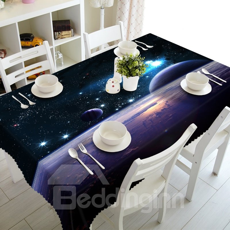 Dreamy Starry Sky Prints Design Washable Home Decorative 3D Tablecloth
