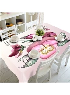 Warm Beautiful Flowers and Butterflies Prints Washable 3D Tablecloth