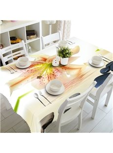 Simple Style Lily Flowers Pattern Design Washable 3D Tablecloth