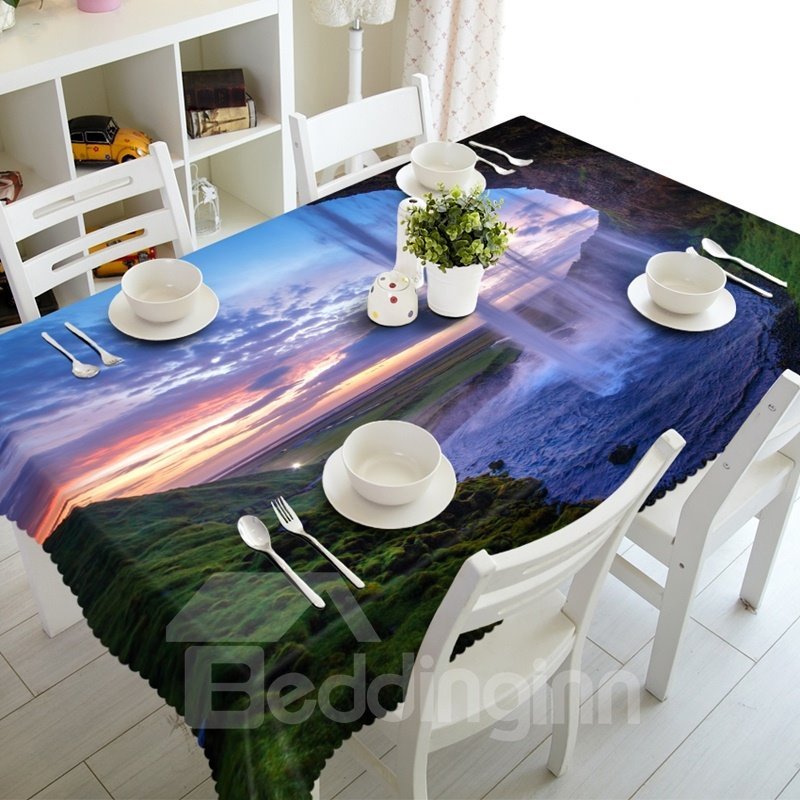 Amazing Waterfalls Natural Scenery Prints Design 3D Tablecloth