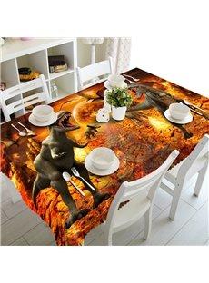 Vivid Creative Design Two Dinosaur Pattern Design Home Decorative 3D Tablecloth