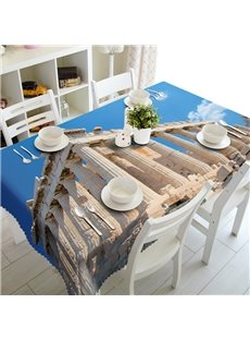 Wonderful World Famous Architecture Prints Polyester Fibre 3D Tablecloth
