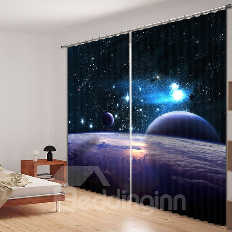 Beddinginn Universe Printed D Curtain In 41008