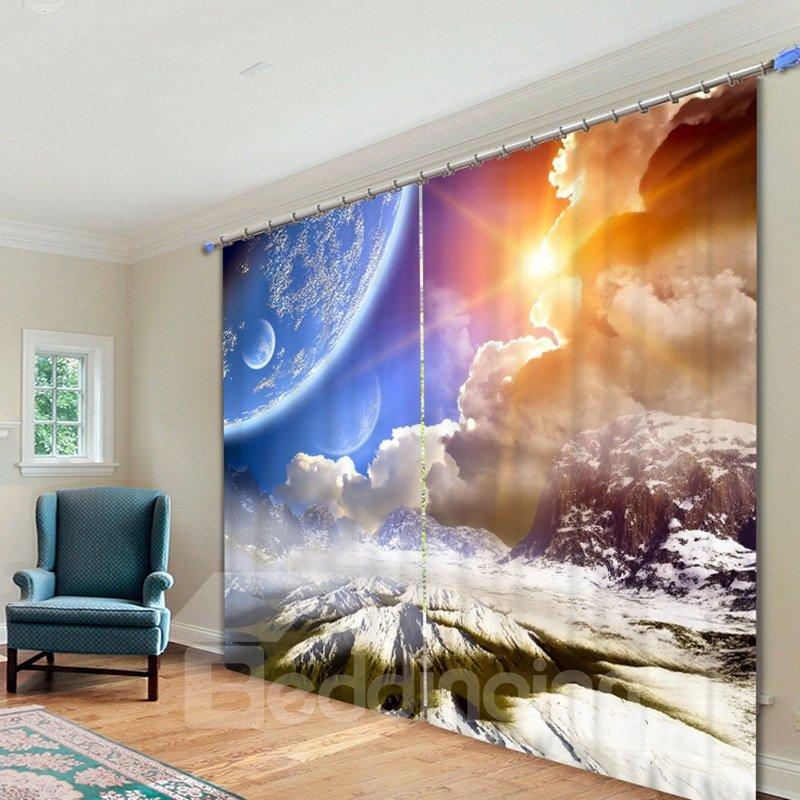Spectacular Nature Scenery Printed 3d Curtain Pic