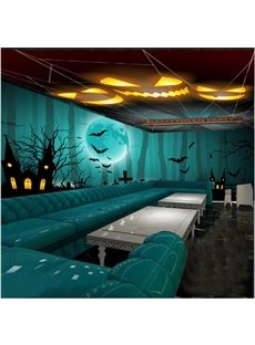 Fancy Creative Halloween Theme Pattern Decorative 3D Ceiling and Wall Murals