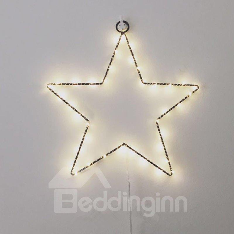 Bright Fashion Pentagram Star Shape Design Room Decoration LED String Lights