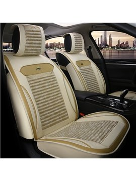Comfortable Simple Flax&Natural fibers Material Car Seat Cover