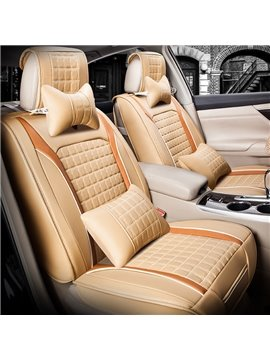 Rubbing Genuine Leather Health Solid Luxurious Car Seat Covers