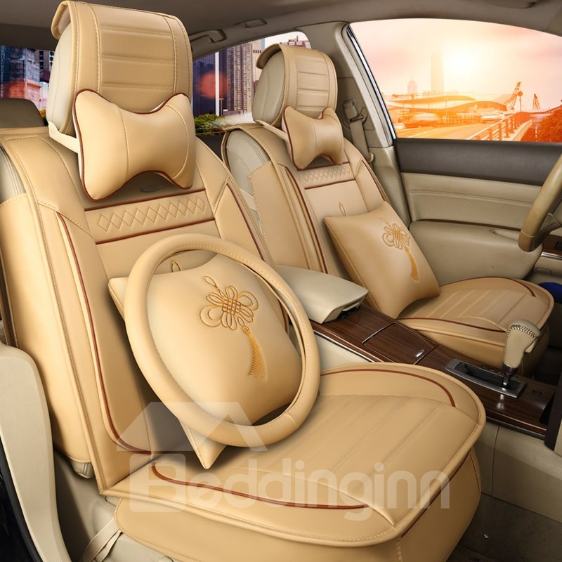Cozy Rubbing Genuine Leather Colorful Luxurious Car Seat Covers