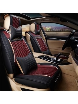 Genuine Leather Ice Silk And Rayon Business Luxurious Car Seat Covers