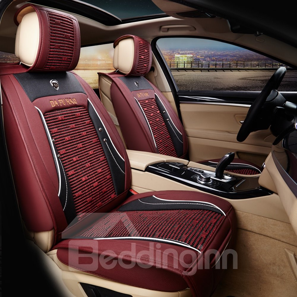 Rubbing Pattern Genuine Leather Durable Soft Cost-Effective Car Seat Covers