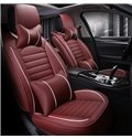 Thick Rubbing Solid PU Leather Luxurious Car Seat Covers