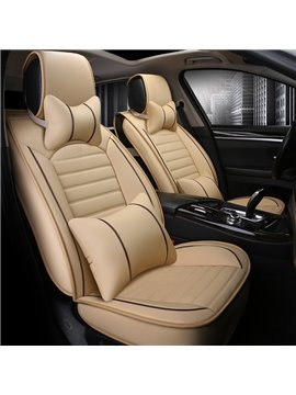 Thick Rubbing Solid Genuine Leather Luxurious Car Seat Covers